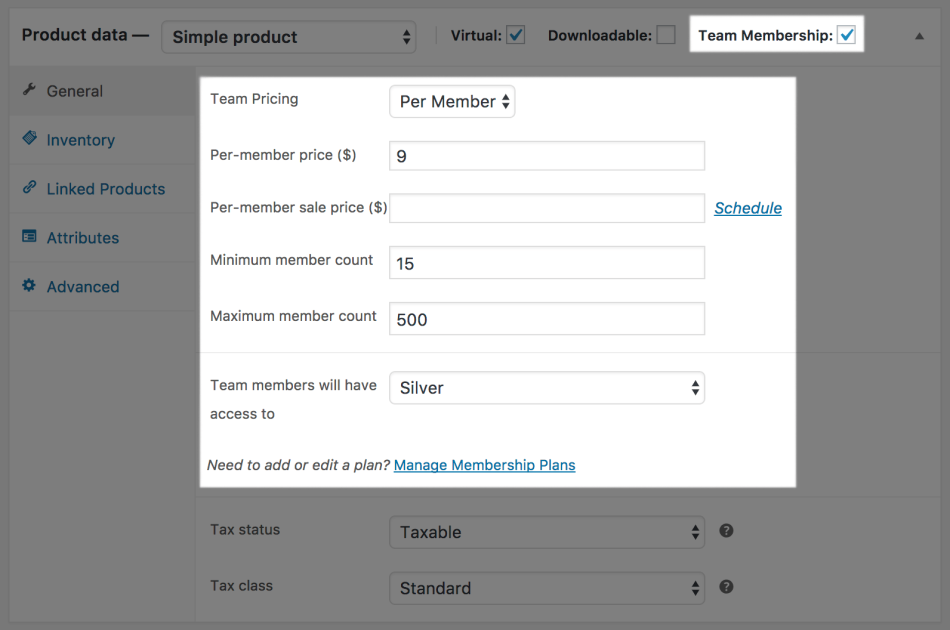 Teams for WooCommerce Memberships: per member team