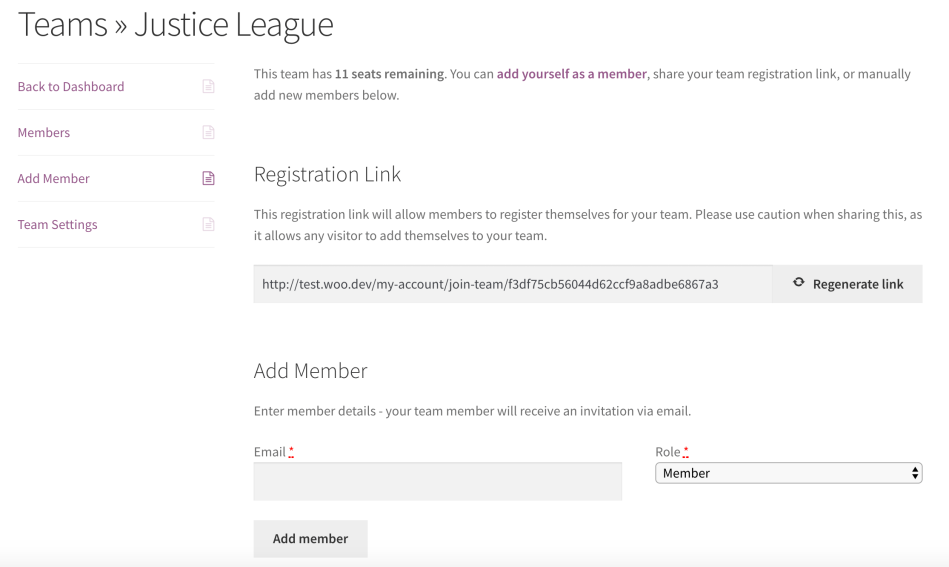 Teams for WooCommerce Memberships: add members