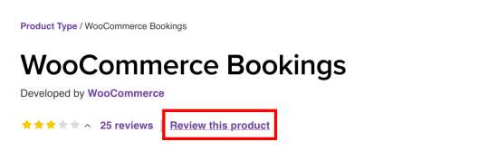 """Shows """"review this product"""" link at the top of the product page"""