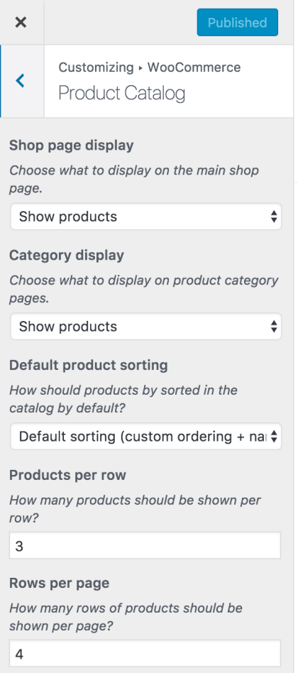 WooCommerce Customizer - Manage Store Notice, Catalog View