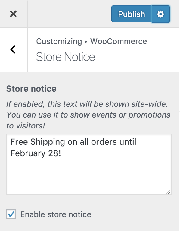 WooCommerce Customizer - Manage Store Notice, Catalog View and