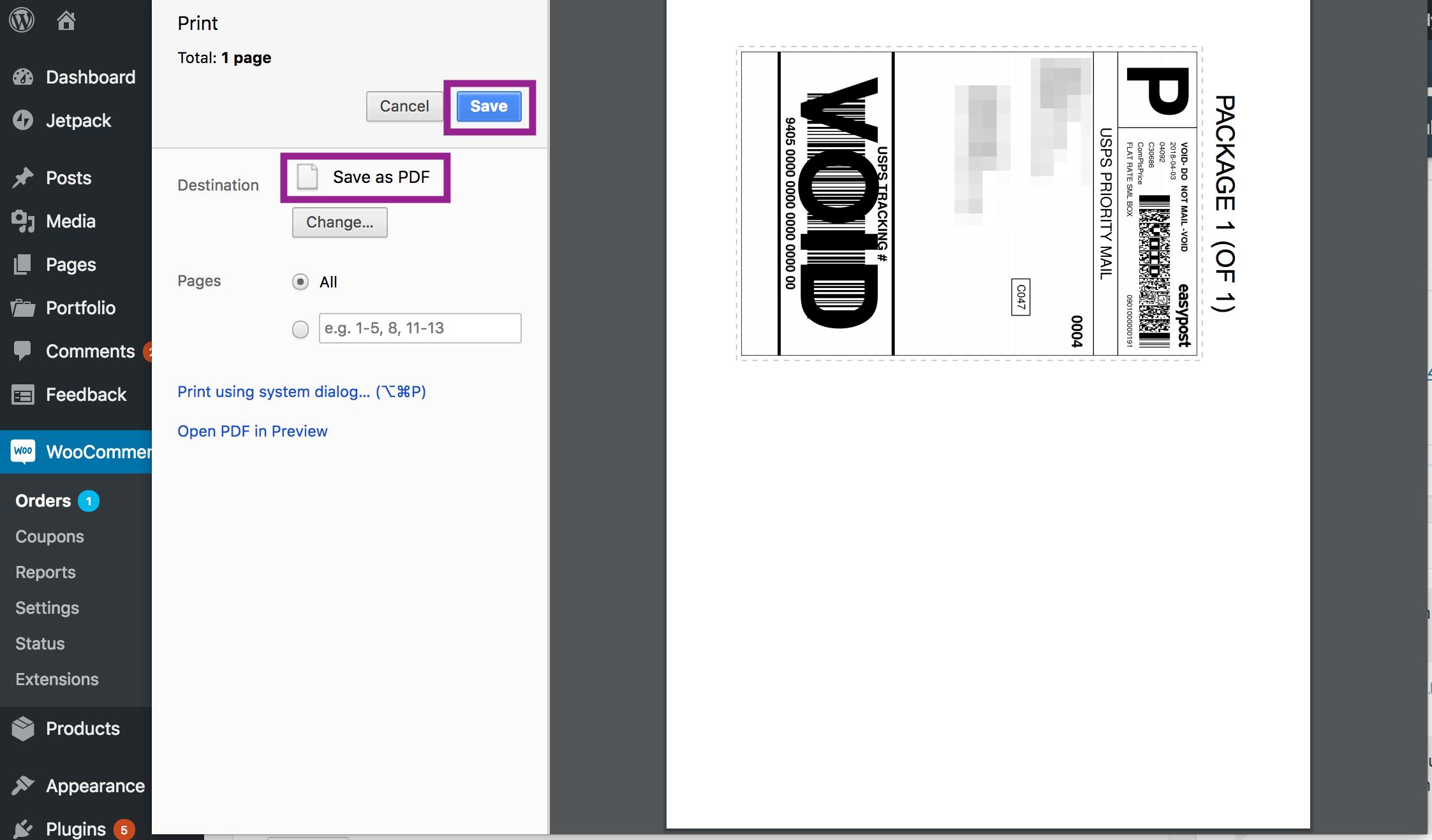 print as a pdf