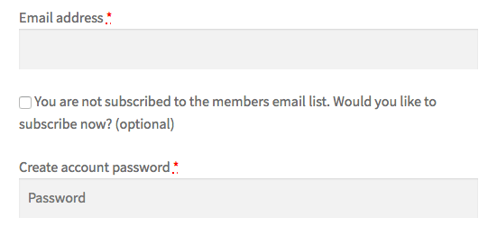 MailChimp for WooCommerce Memberships: checkout opt-in