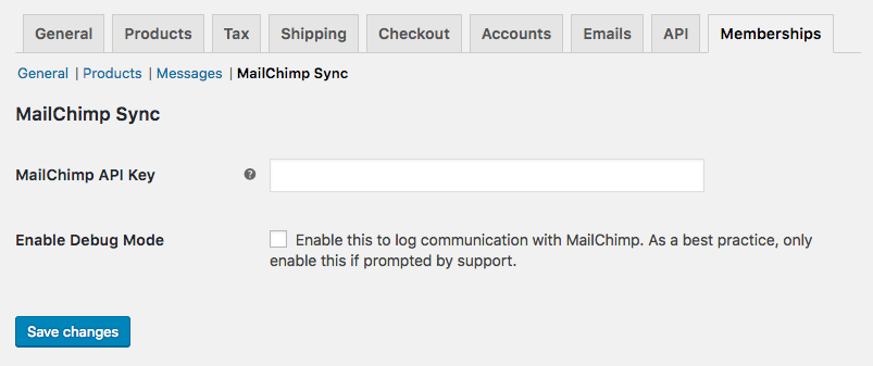 WooCommerce Memberships MailChimp Sync: new settings