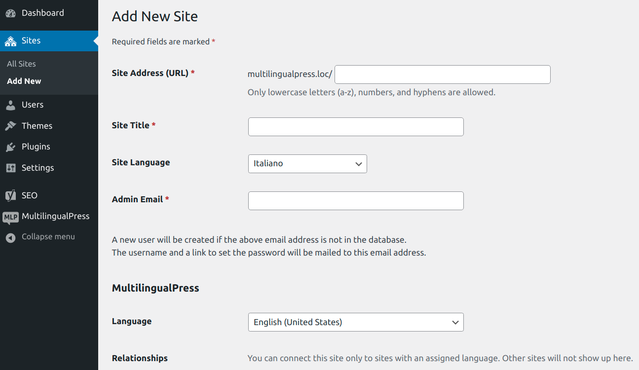 WooCommerce MultilingualPress Setup Main Store