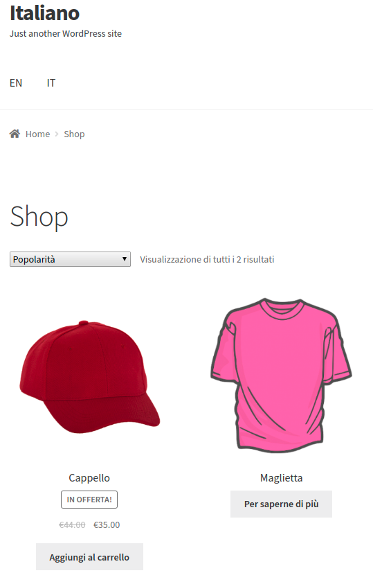 WooCommerce MultilingualPress IT products