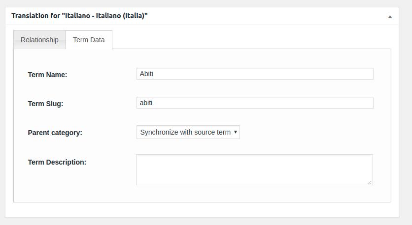 Woocommerce MultilingualPress Product Category Translation Metabox