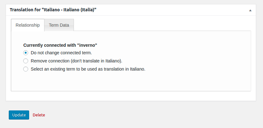 Woocommerce MultilingualPress Product Tag Translation Metabox