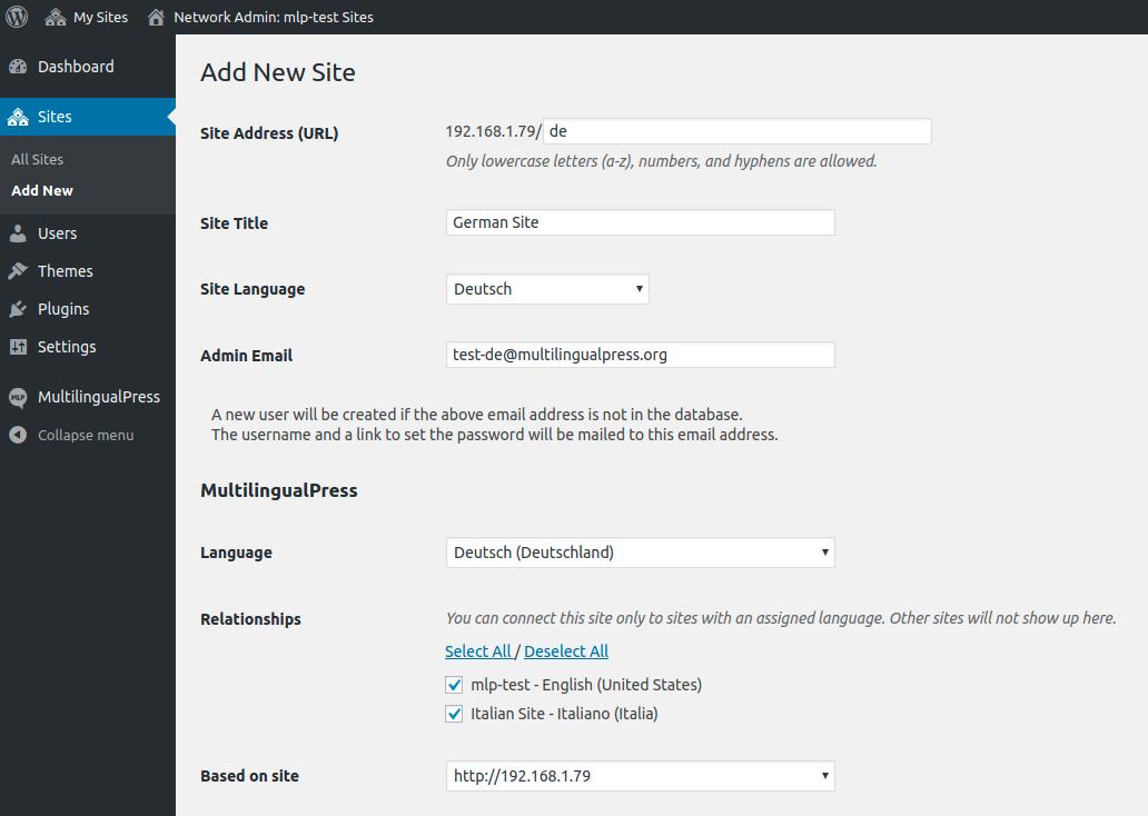 WooCommerce MultilingualPress Setup Secondary Store