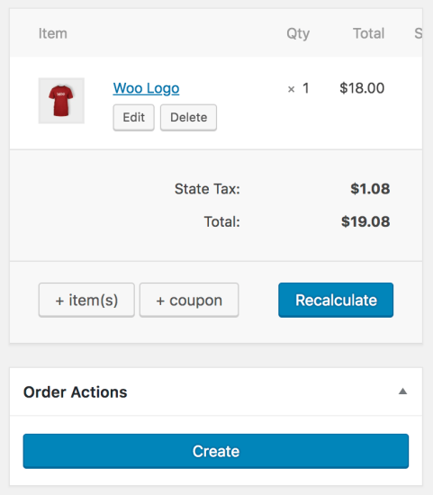WooCommerce PayPal Here create order
