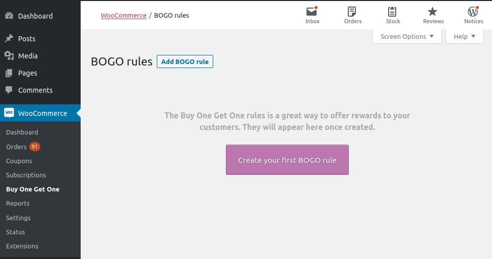 Neue erste BOGO-Regel hinzufügen