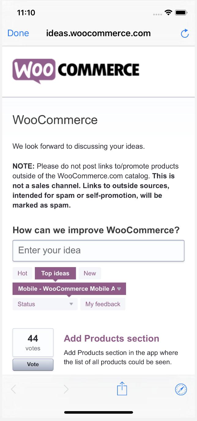 WooCommerce for iOS - WooCommerce Docs