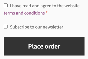 Subscription field in the checkout form