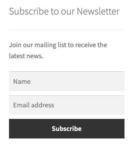 AWeber Newsletter Subscription widget