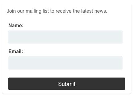 AWeber Web Form widget