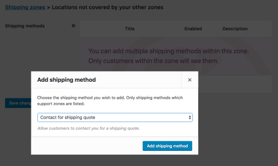 Adding a 'Contact for Shipping Quote' shipping rate