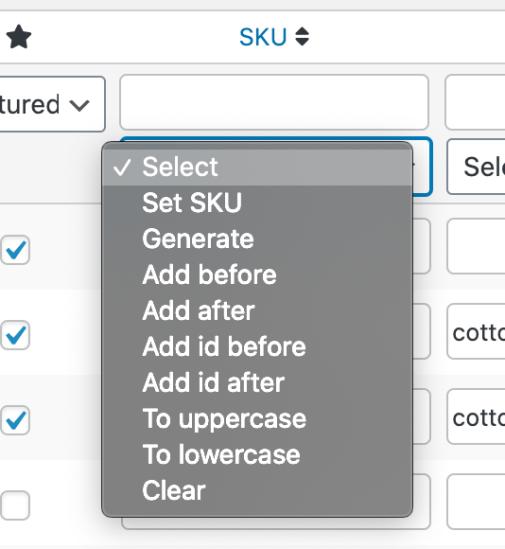Bulk Table Editor SKU