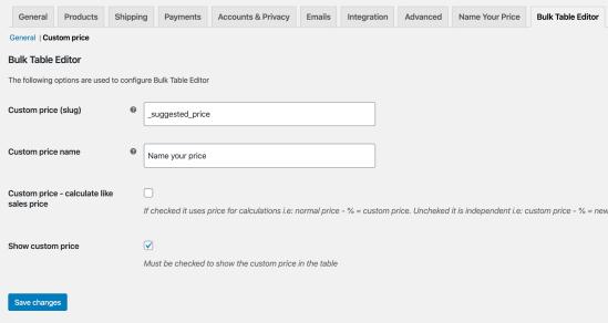 Bulk Table Editor - NYP integration