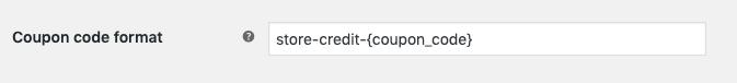 customize the coupon code format