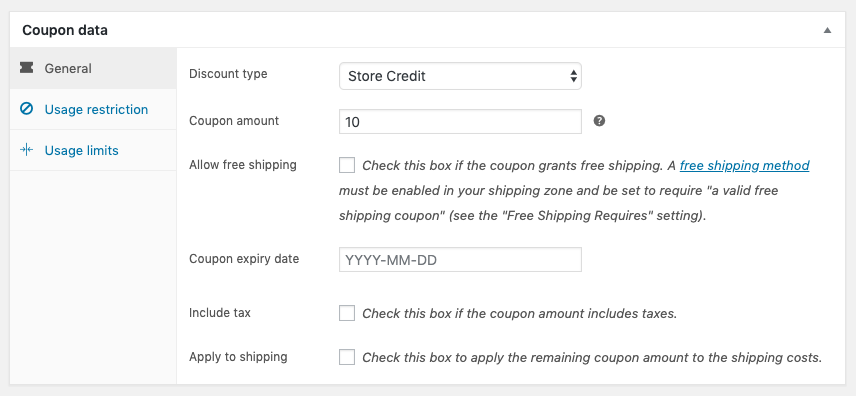 Create a Store Credit coupon manually