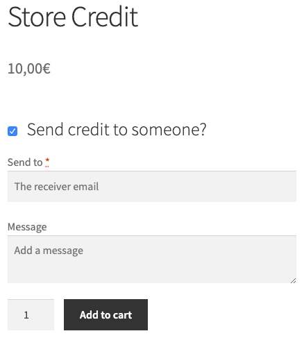 Store Credit product