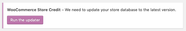 Store Credit updater notice