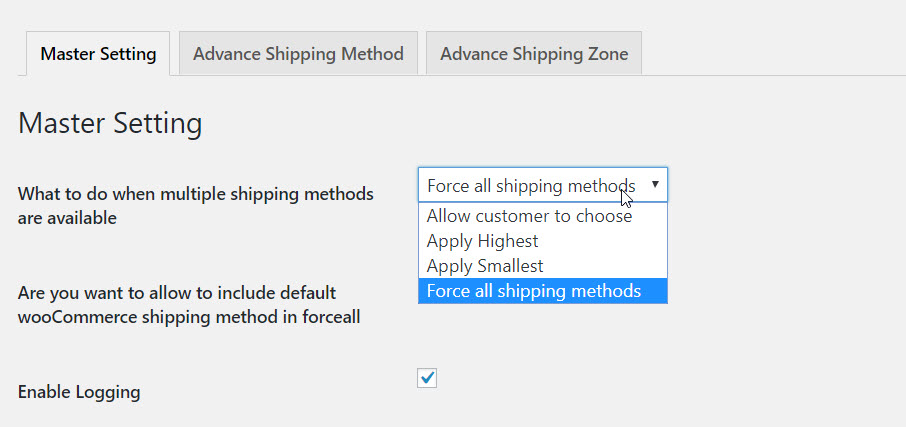 10 Master setting for Advanced Flat rate shipping plugin