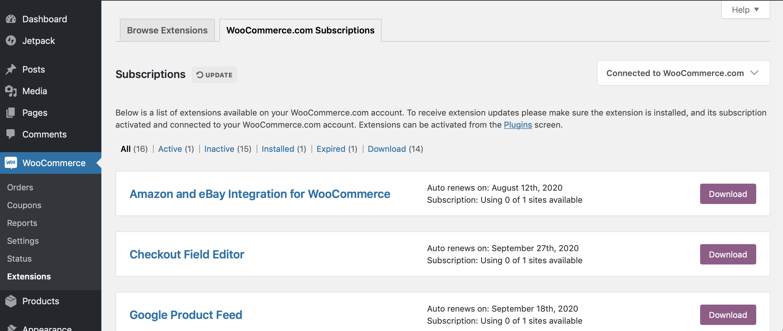 Managing Woocommerce Com Subscriptions Woocommerce Docs