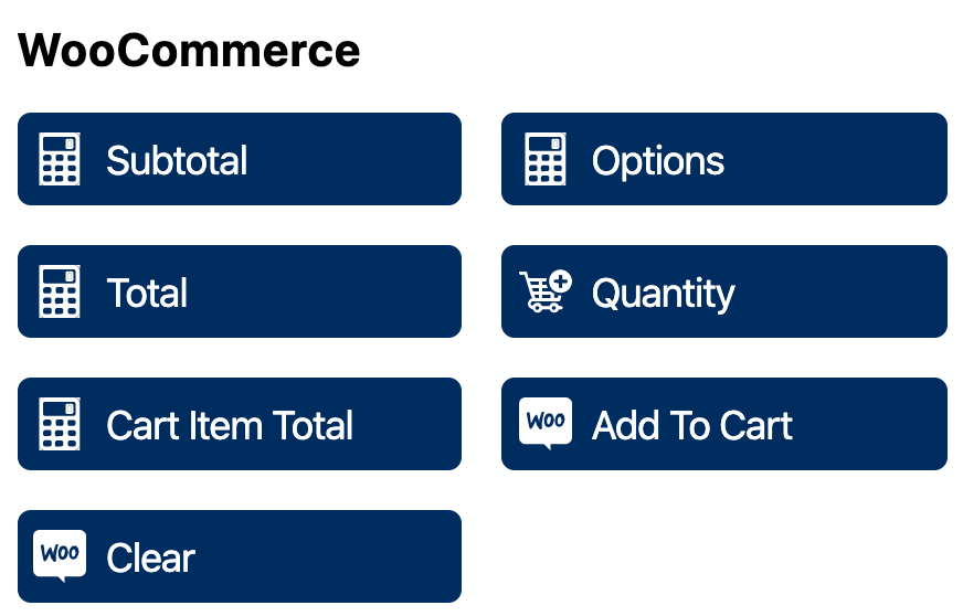 WS Form PRO WooCommerce Product Add Ons - WooCommerce Fields