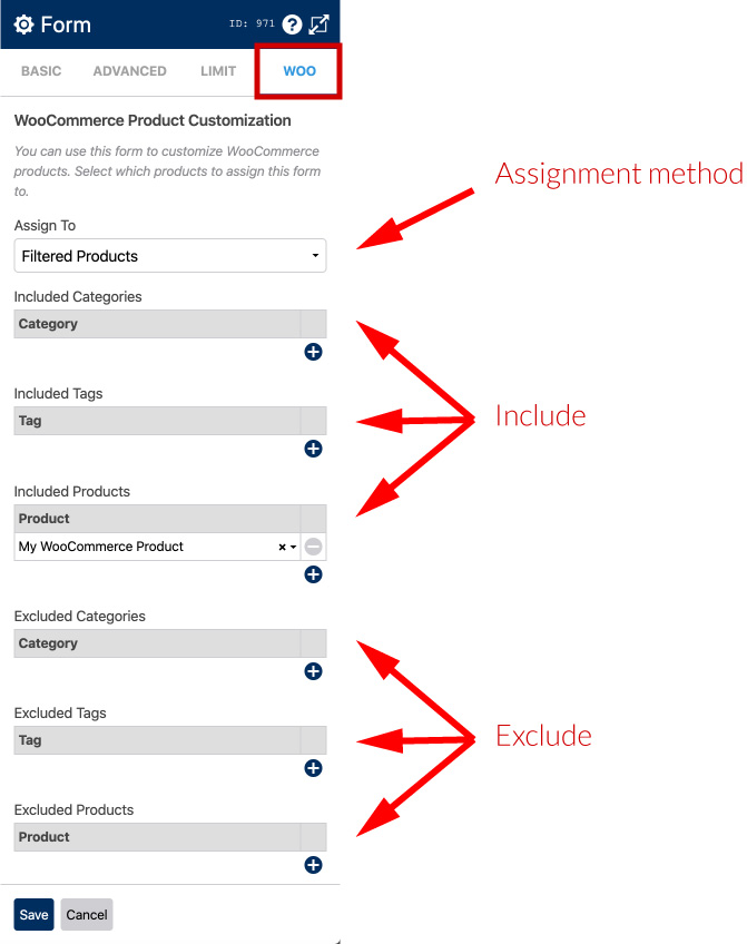 WS Form PRO WooCommerce Product Add Ons - Assignment