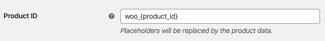 Customize the ID of the products