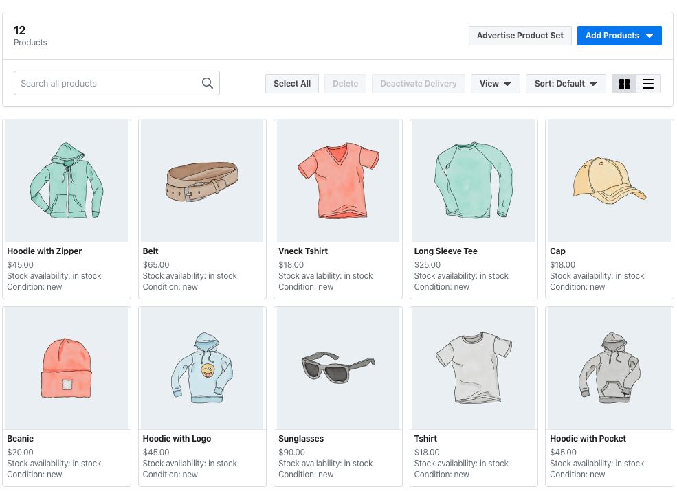 Facebook Catalog Products
