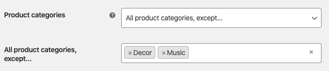 Filter the catalog's products by category