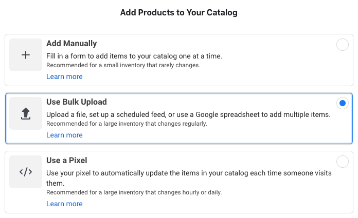 Facebook Catalog Data Source
