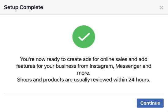 Facebook for WooCommerce - Setup Complete