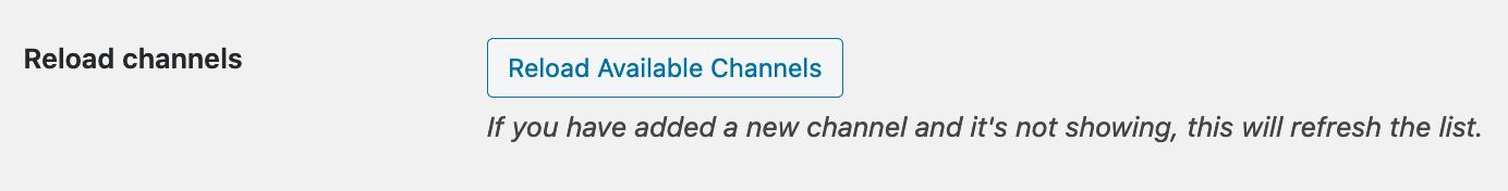 WooCommerce Slack extension reloading channel list