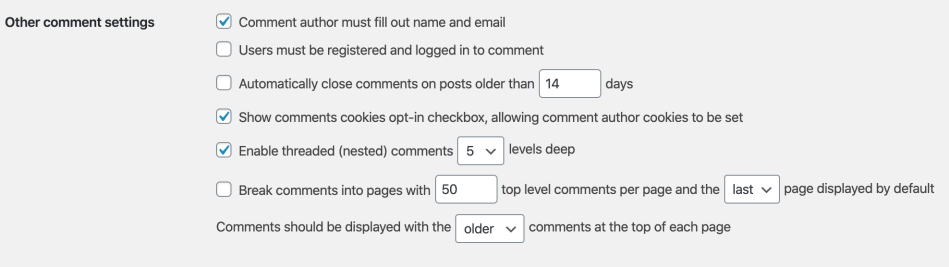 WooCommerce Product Reviews Pro - Discussion settings