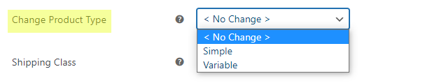 Bulk Edit Products, Prices and Attributes    change product type