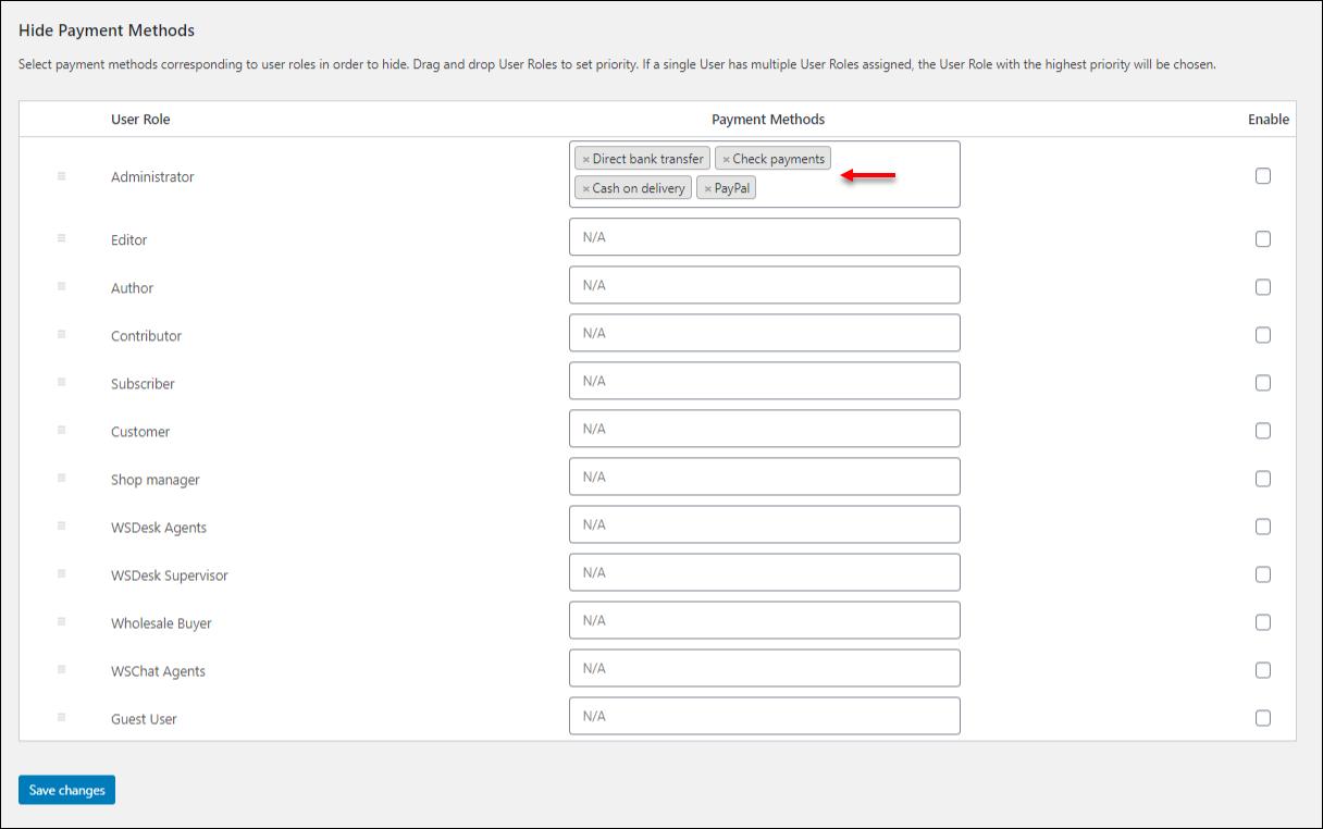 Advanced Catalog Mode | Hide Payment Methods