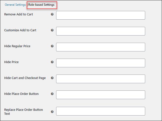 Advanced Catalog Mode | Role Based Settings