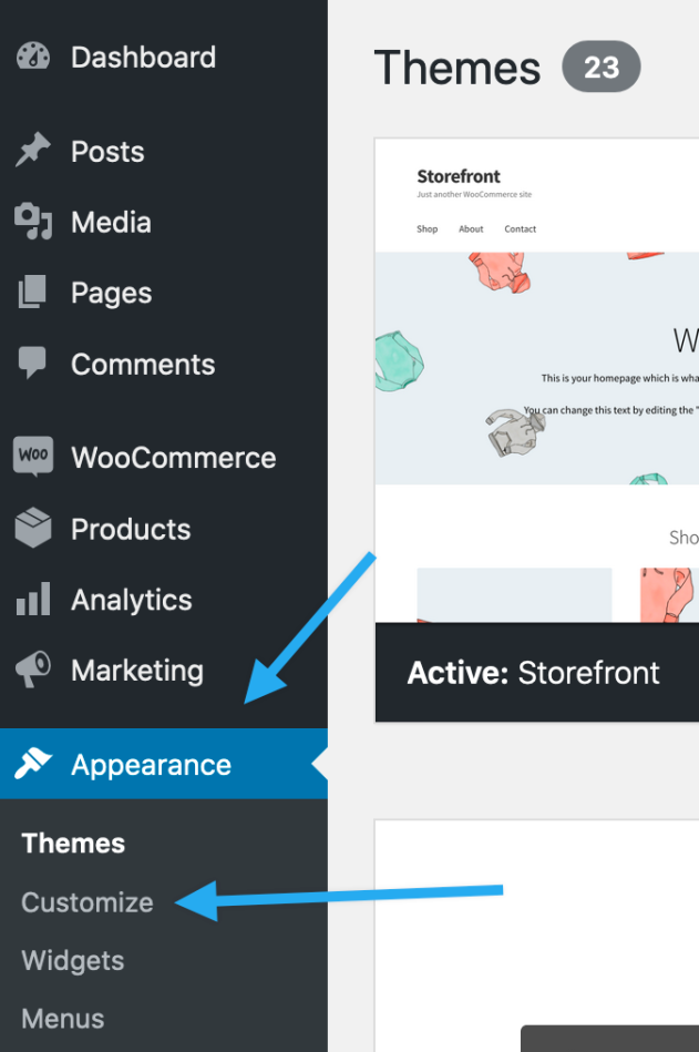 where to find woocommerce customizer 4.3