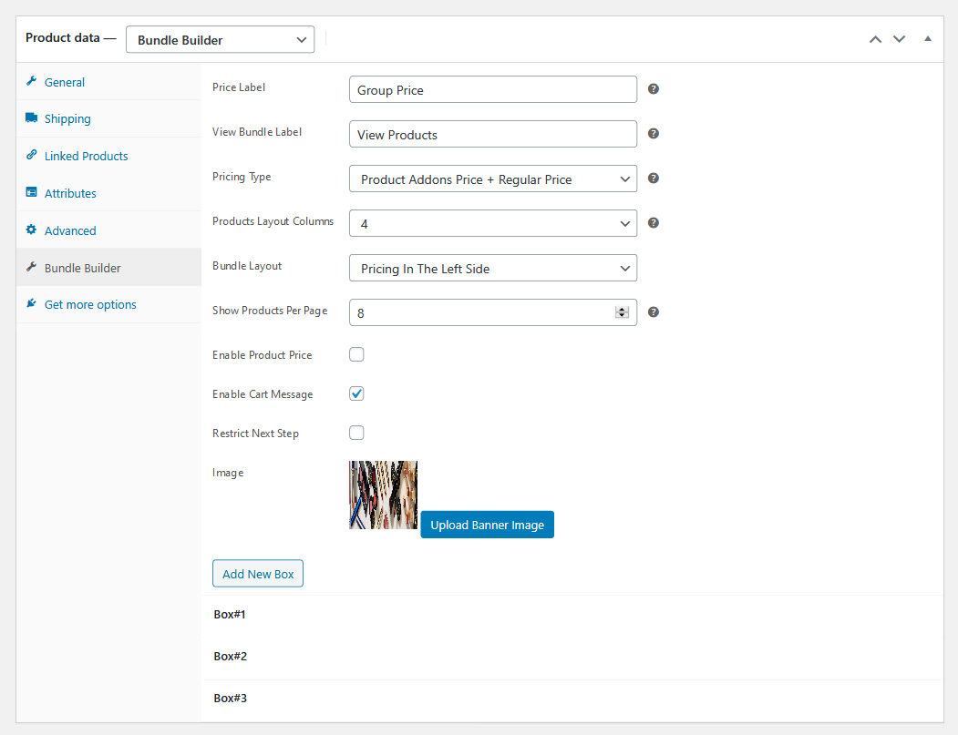 bundle builder for woocommerce product page