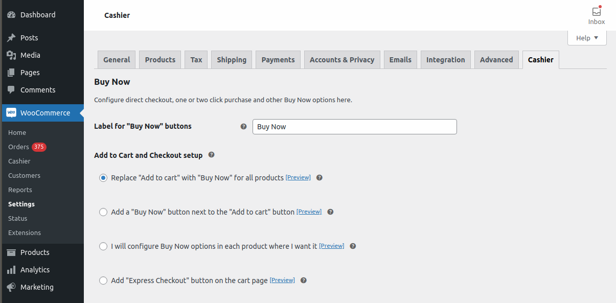 Enable direct checkout for your entire WooCommerce store