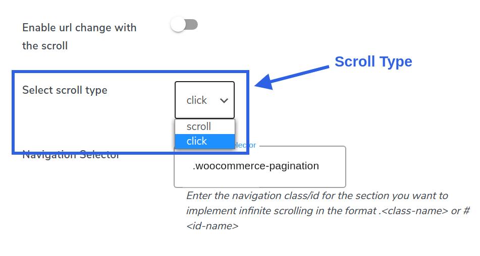 infinite scroll type