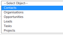 select feed object